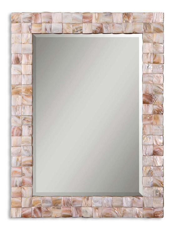 36'' Mother Of Pearl Frame Accent Mirror