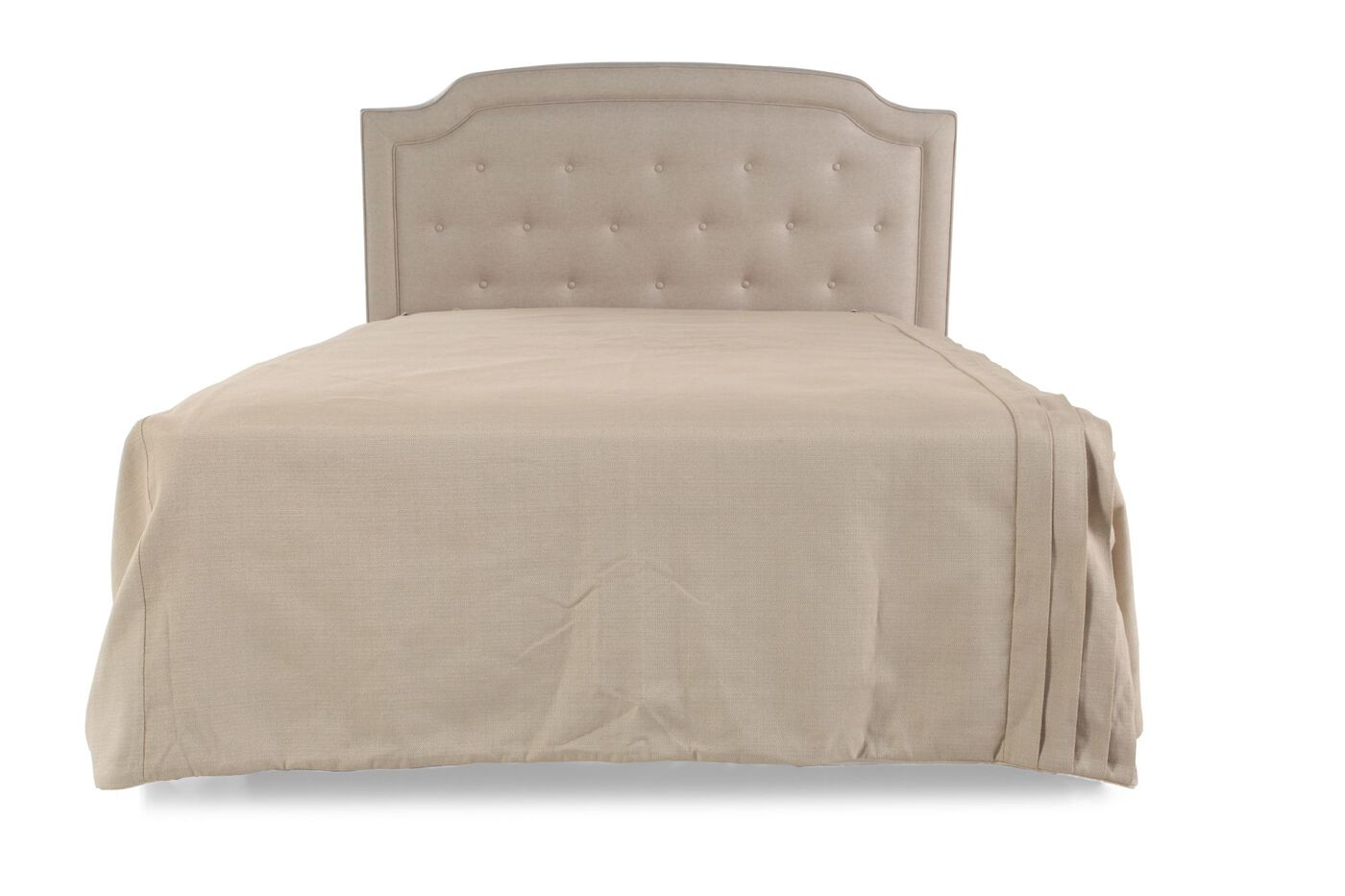 "Wayfair Tufted Headboard Tufted Headboard In Bedroom: Transitional Tufted 55"" Queen Headboard In White"