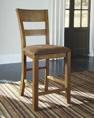 "Armless 43.5"" Bar Stool in Light Brown"