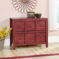 Two-Drawer Traditional Console in Fiery Pine