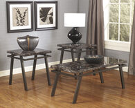 Ashley Paintsville Bronze Finish Occasional Table Set