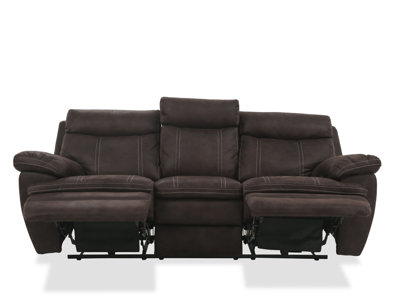Power Reclining Microfiber 86 Sofa In Brown Mathis Brothers Furniture
