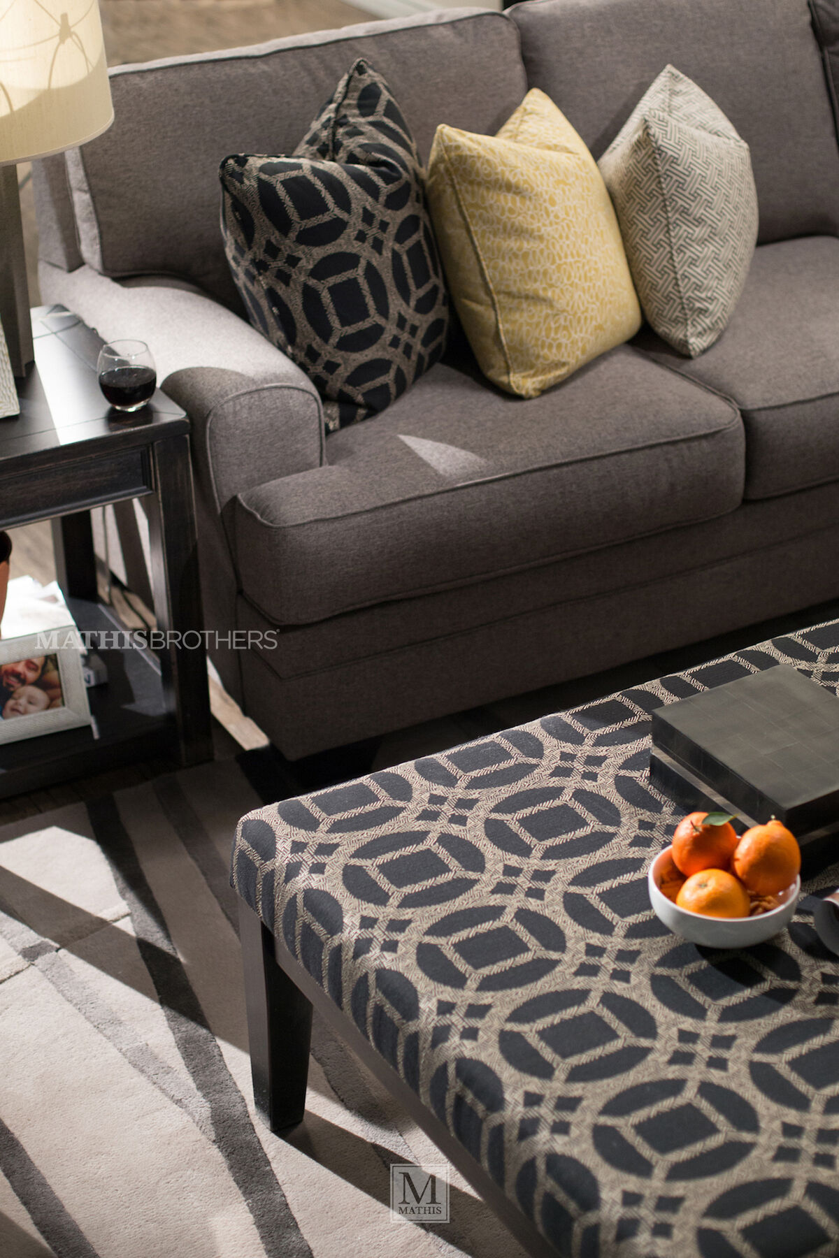 Ashley Cresson Pewter Four-Piece Sectional ... : pewter sectional - Sectionals, Sofas & Couches