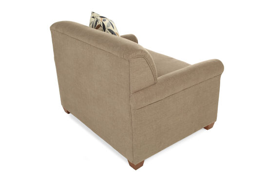 "Textured Contemporary 54"" Sleeper Chair in Brown"