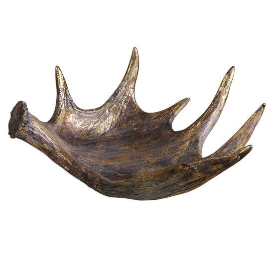 Moose Antler Bowl in Gold Leaf