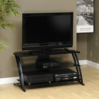 MB Home Spotlight Gallery Black Panel TV Stand