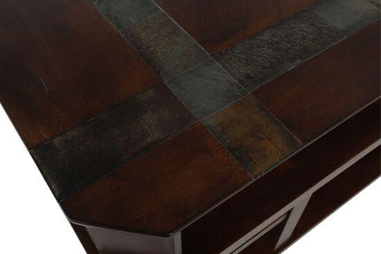 Open Compartment Casual TV Consolein Dark Brown