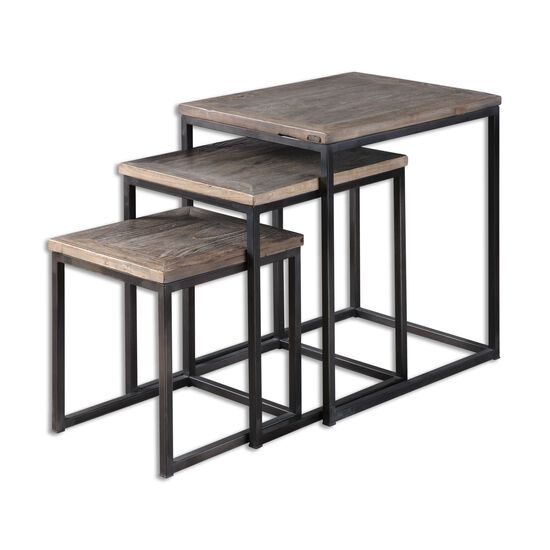 Three-Set Nesting Table Set in Black