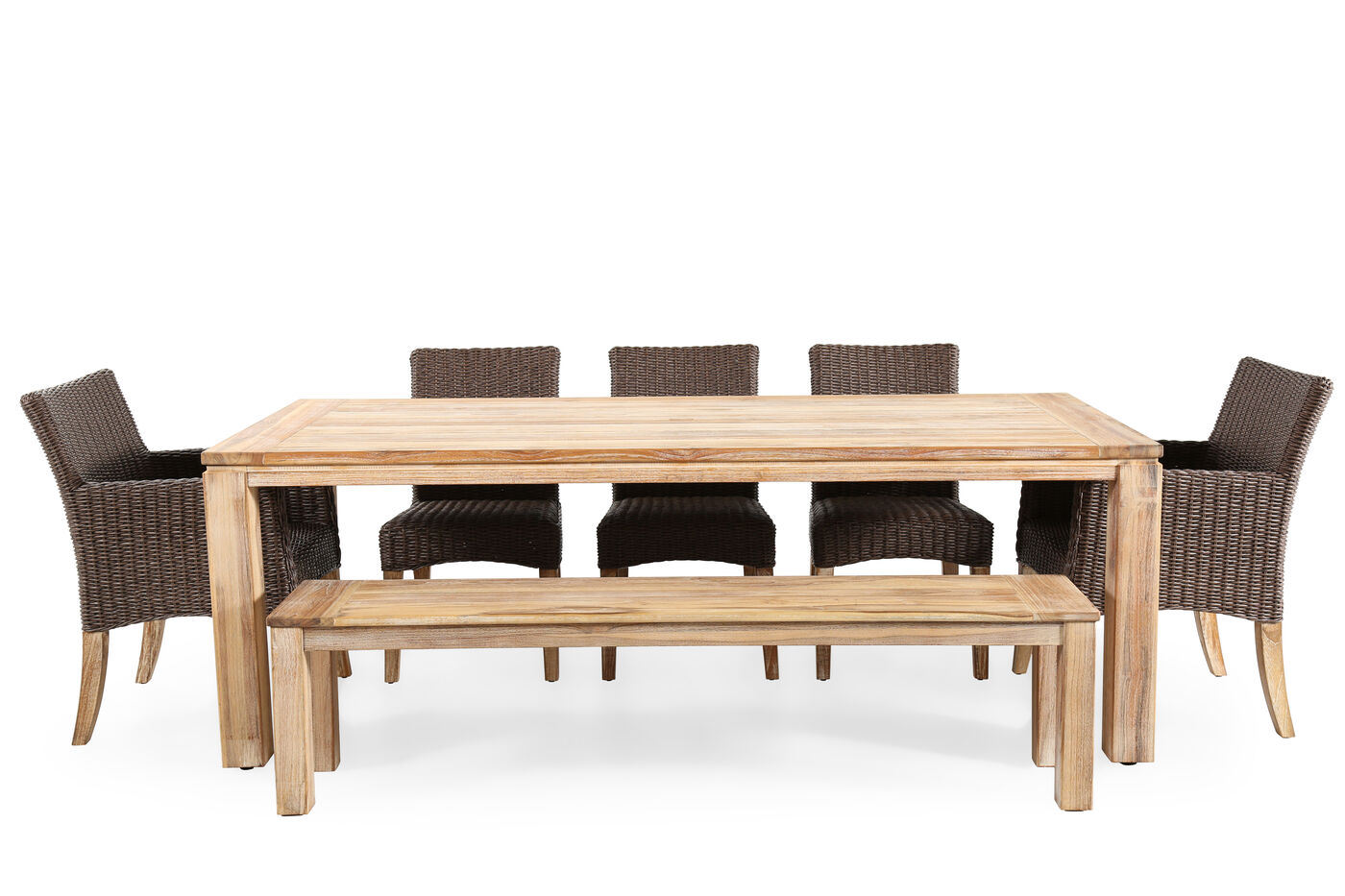 World source vineyard haven teak dining table mathis brothers world source vineyard haven teak dining table geotapseo Image collections