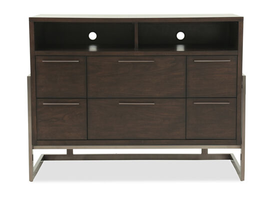 "19"" Traditional Six-Drawer Media Chest in Espresso"