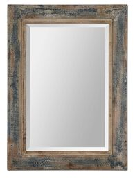 "38"" Distressed Accent Mirror in Slate Blue"