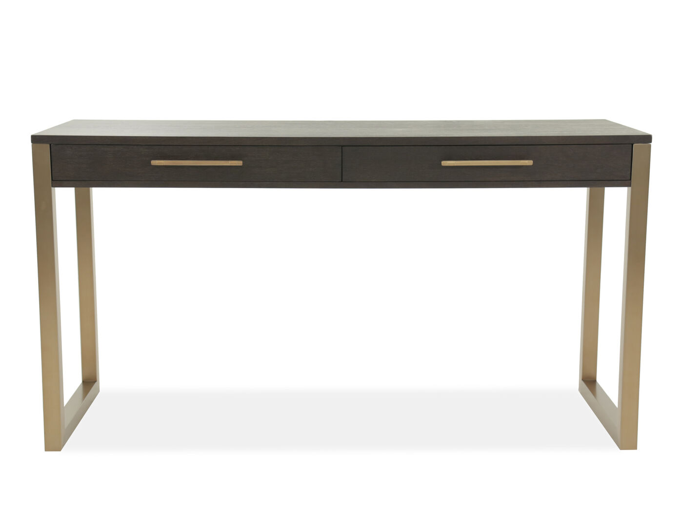 68 Quot Contemporary Two Drawer Tall Desk In Brown Mathis