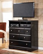 "40"" Contemporary Media Chest in Black"