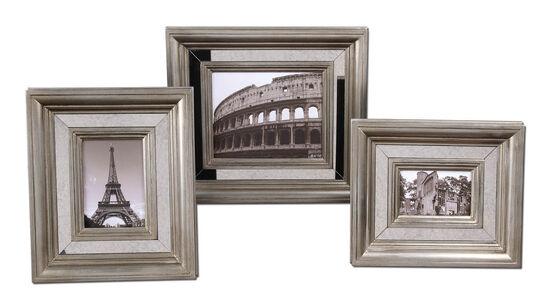 Three-Piece Photo Frames in Antique Silver
