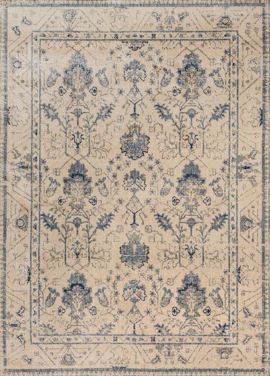 """Contemporary 1'-6""""x1'-6"""" Square Rug in Ivory/Slate"""