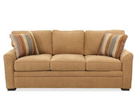 "Low-Profile Transitional 83"" Queen Sleeper Sofa in Brown"