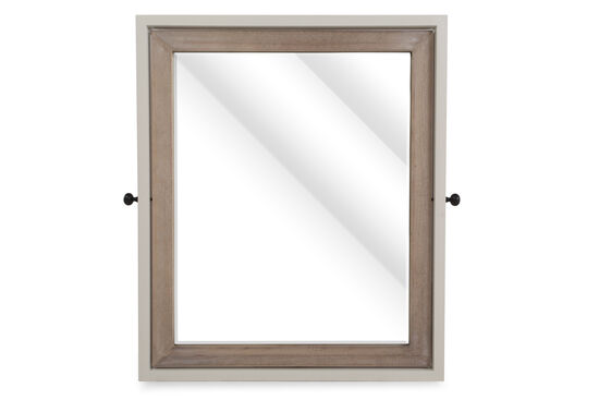 Beveled Contemporary Youth Tilt Mirror in Light White