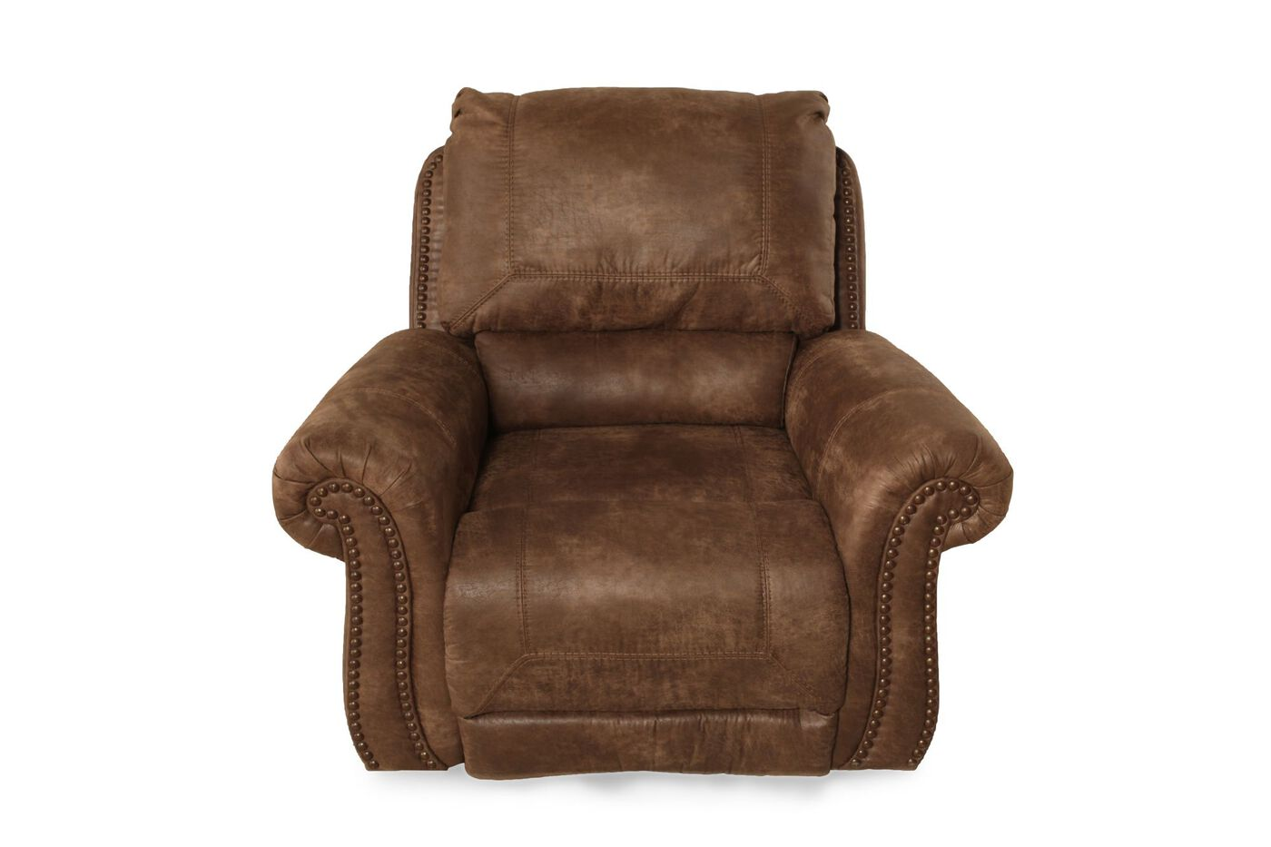 Nailhead Accented Contemporary 34 Quot Swivel Glider Recliner