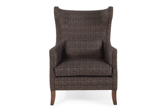 """Geometric Patterned European Classic 31"""" Chair in Cocoa"""