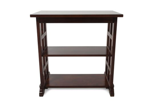 Rectangular Contemporary Chairside Table in Cherry Brown