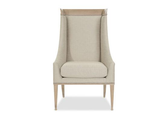 Wingback 43'' Host Chair in Beige