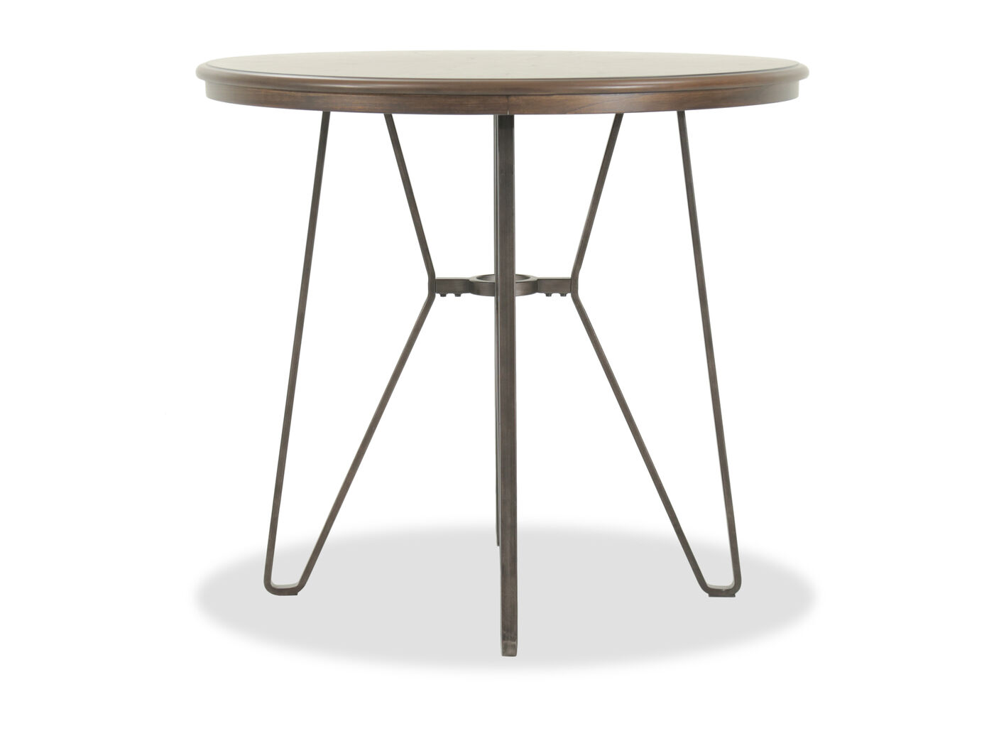 earthy furniture. Images 40\u0026quot; Round Counter Table With Angled Tubular Base In Earthy Brown Furniture