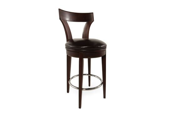 """Leather 47"""" Bar Stool in Brown"""