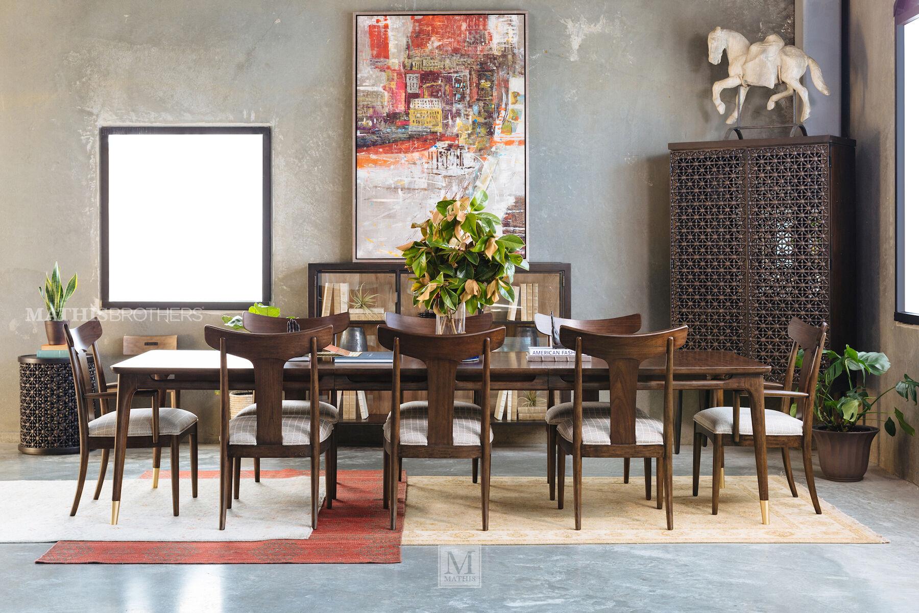 Thomasville Ellen DeGeneres Westwood Walnut Rectangular Dining Table ... Part 88
