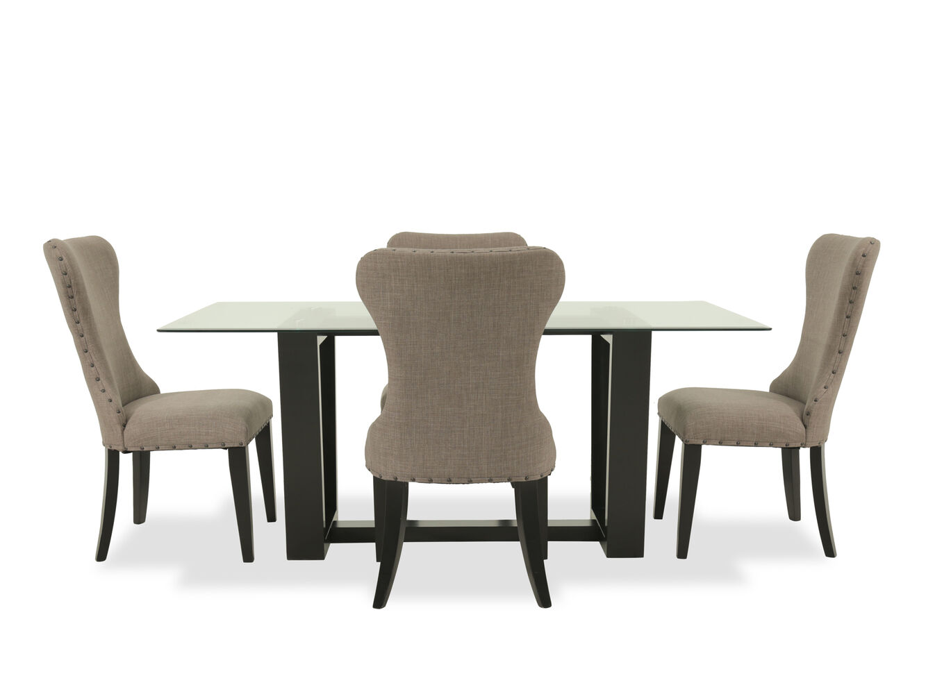 Images Five Piece Contemporary 703939 Dining Set In Dark