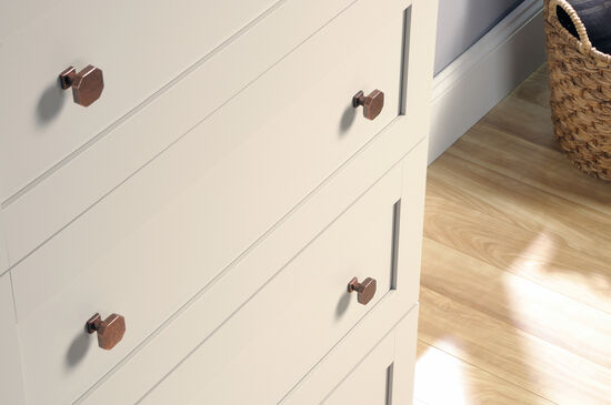 Paneled Four-Drawer Chest in Cobblestone