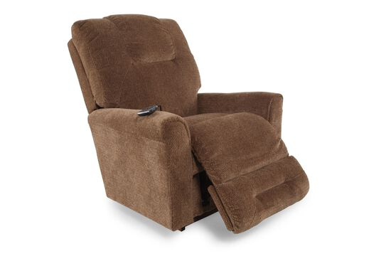 "Contemporary 36.5"" Power Recliner in Bark"