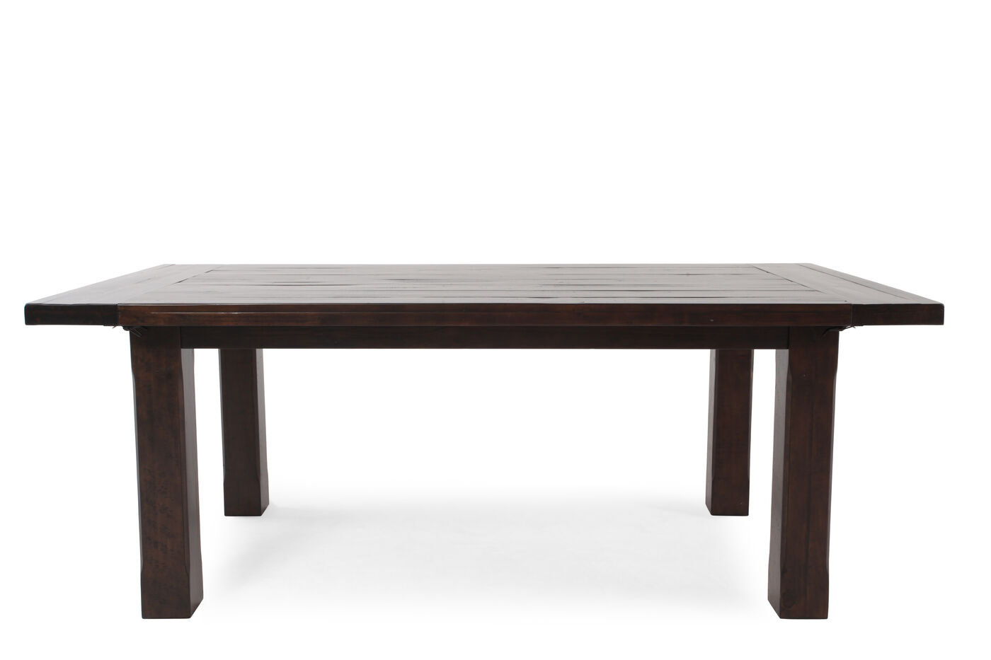 transitional 80 to 112 planed top dining table in rustic