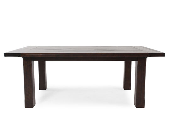 "Transitional 80"" to 112"" Planed Top Dining Table in Rustic Pine"