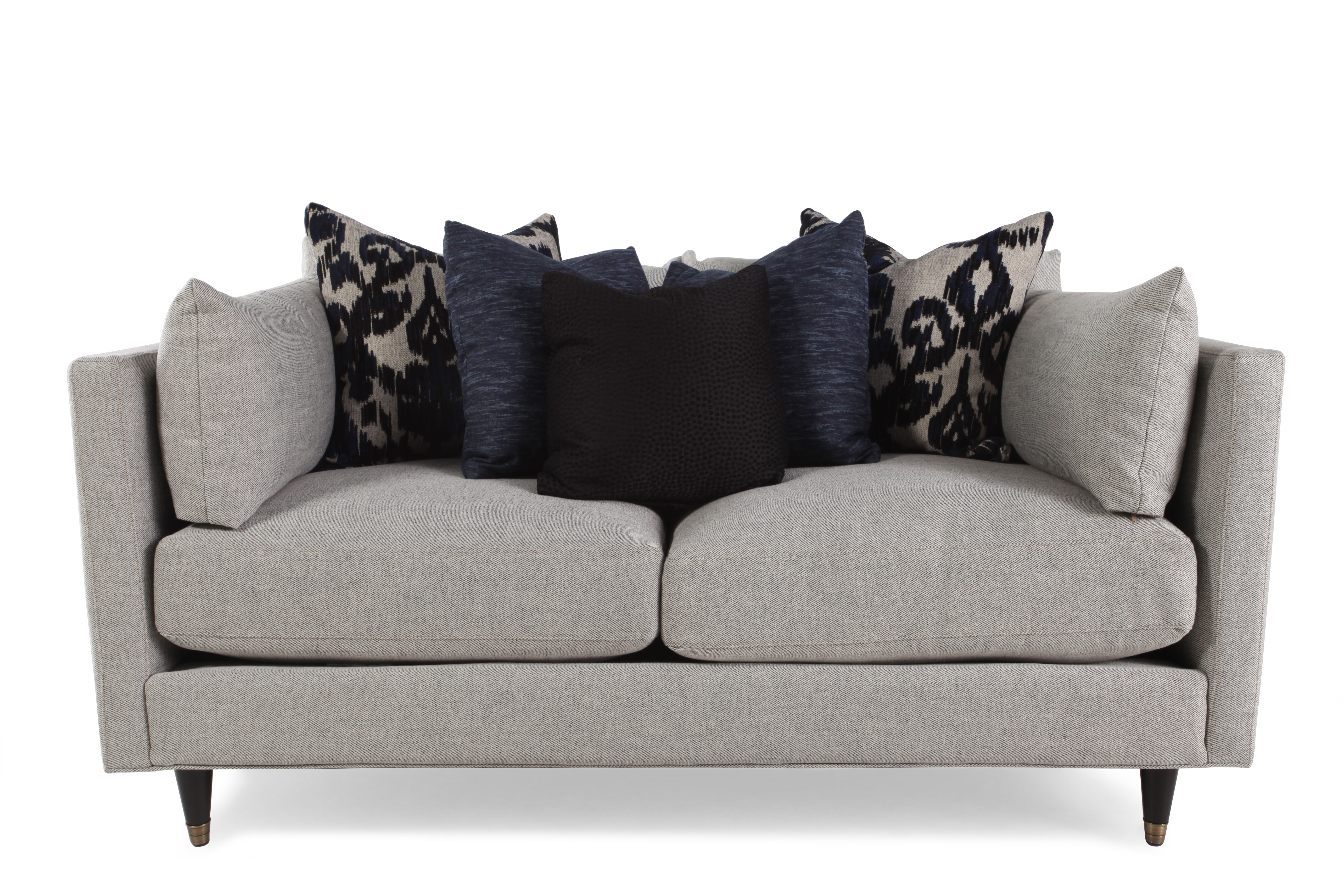 Charming Low Profile 70u0026quot; Sofa In Cream