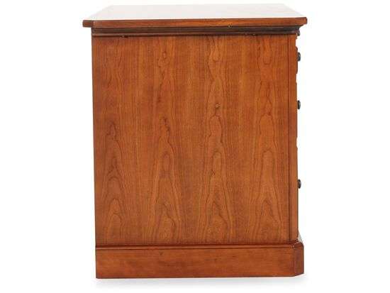 """47"""" Country Three-Drawer Writing Desk in Brown"""