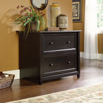Two-Drawer Transitional Lateral File in Estate Black