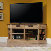 Two-Drawer Contemporary Entertainment Credenza in Antigua Chestnut