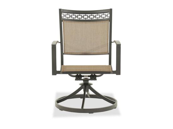Ashley Carmadelia Brown Swivel Sling Chair