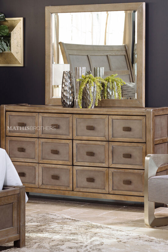 "40"" Casual Portrait Mirror in Brown"