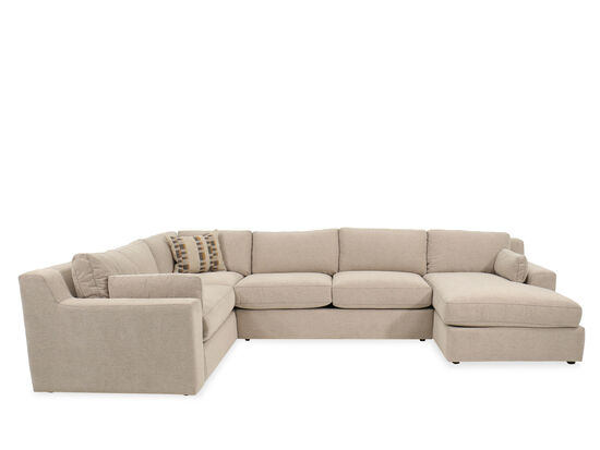 Three-Piece Casual Sectional in Beige