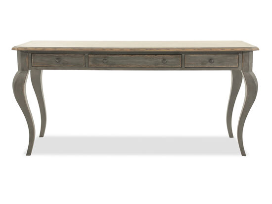 "66"" European Classic Saber-Leg Desk in Dark Gray"