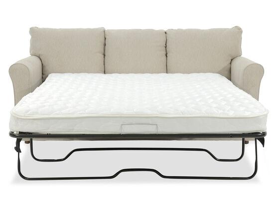 """Casual 82"""" Queen Sleeper Sofa in Beige"""