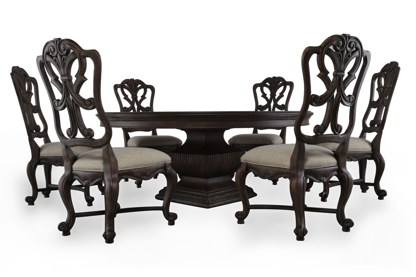 Seven Piece Traditional 723939 Dining Set In Distressed