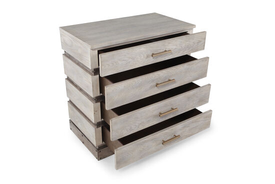 """32"""" Four-Drawer Transitional Chest in Light Gray"""