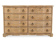 """42"""" Traditional Eight-Drawer Dresser in Light Brown"""