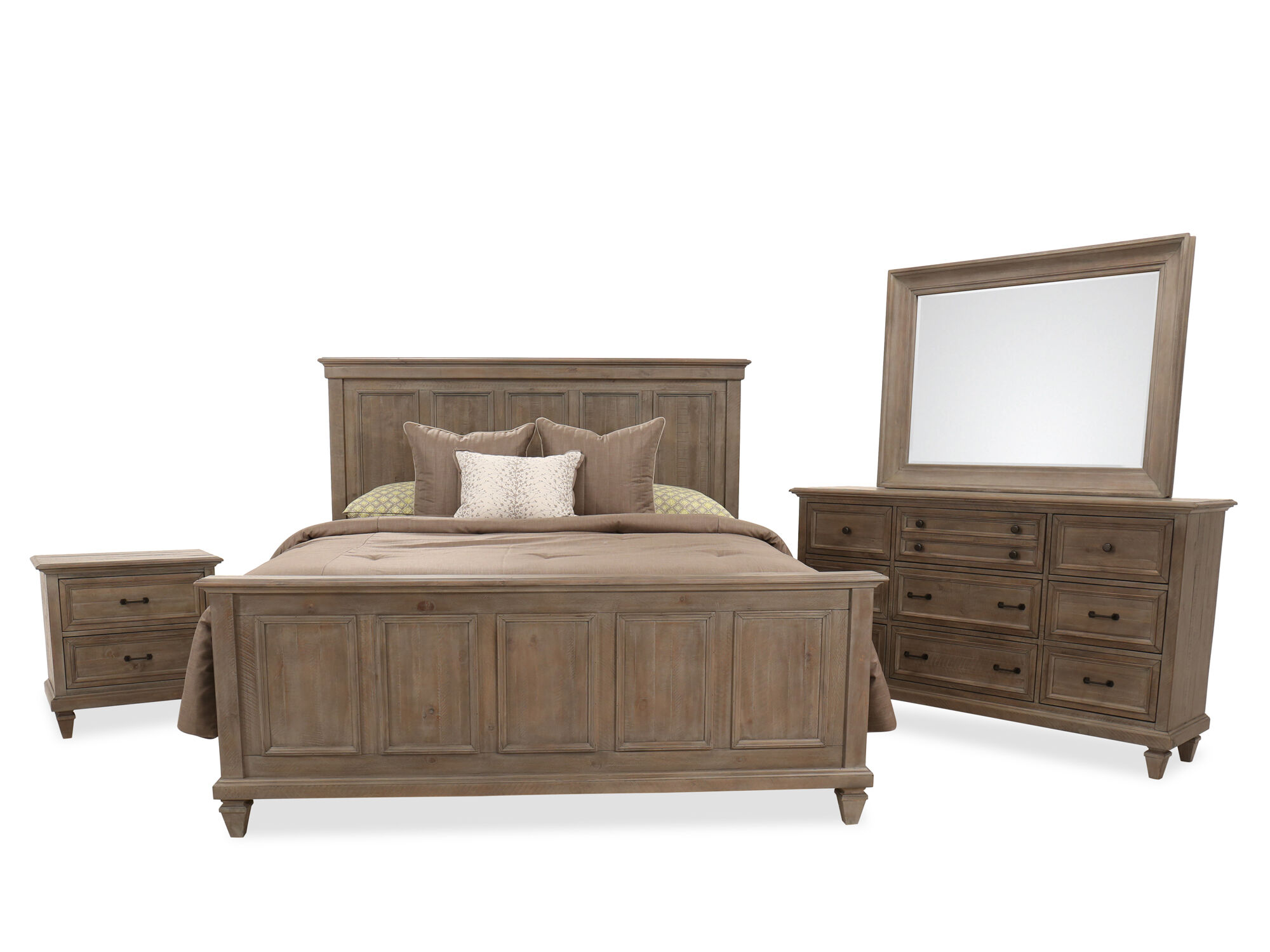 Images Four Piece Transitional Bedroom Suite In Dovetail Gray Four Piece Transitional  Bedroom Suite In Dovetail Gray