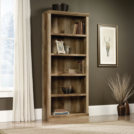 Traditional Adjustable Shelf Open Bookcase in Craftsman Oak