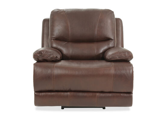 """Leather 43"""" Power Reclinerin Brown"""