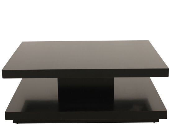 Double-Slab Contemporary Cocktail Table in Pepper Black