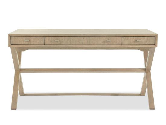 Keyboard Tray Modern Desk/Sofa Table in Light Brown